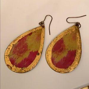 Teardrop Colorful Hook Earrings